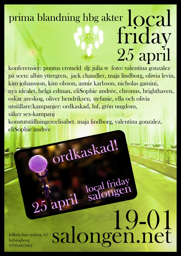 local friday 25 april details